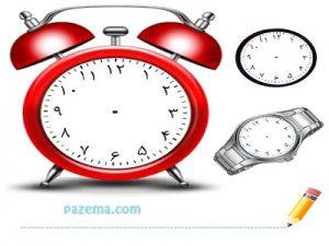 تخته وایت برد آموزش اعداد و ساعت
