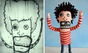 آموزش تبدیل نقاشی به اسباب بازی